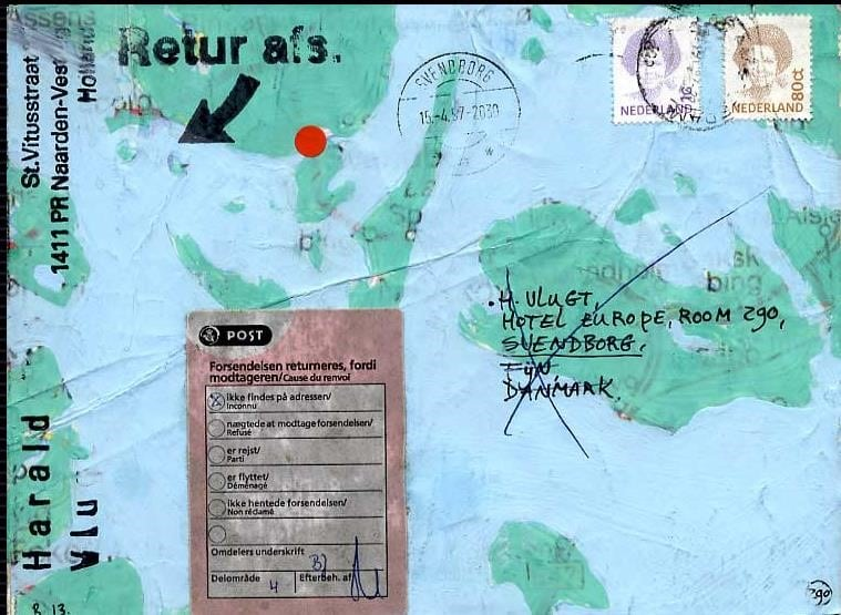 Detail Hotel Europe - Harald Vlugt: Envelope with part of the map