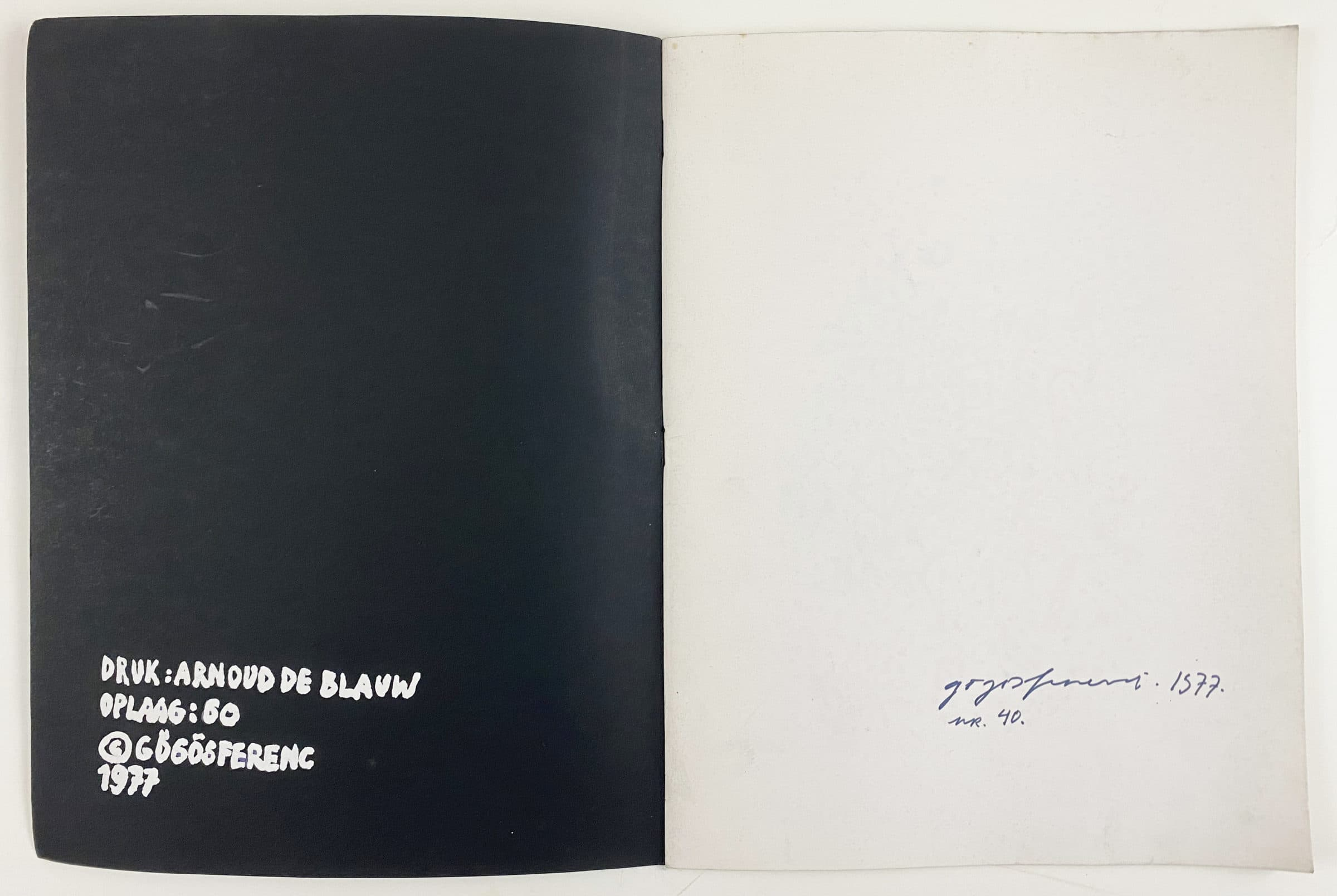 "FERENC GÖGÖS - Book ""28 RAJZ"" with 28 woodcuts (Nr.40/60)"